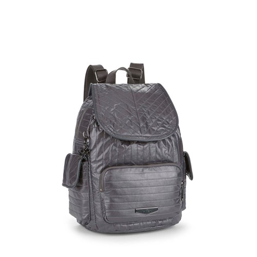 Kipling City Pack Twist Small Backpack Grey fRibzEEvg