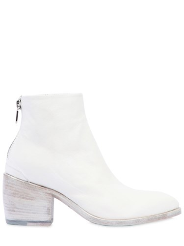 Rocco P. 50Mm Leather Ankle Boots White p7ftH1oo