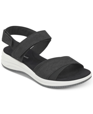 Easy Spirit Draco 3 Wedge Sandals Women's Shoes Black 9qbwj