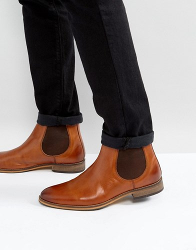 Asos Chelsea Boots In Tan Leather With Natural Sole Tan lkUFJp