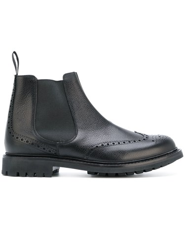 Church's Brogue Detail Chelsea Boots Men Calf Leather Leather Rubber 8 Black mGFuLg