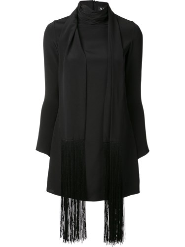 Dress Scarf Fringe Haney 'Cobie' Black qtznvg