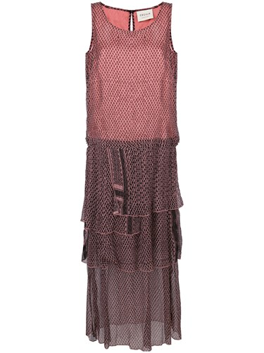 Cecilie Copenhagen Printed Clepto Dress Pink And Purple nOhOWjee