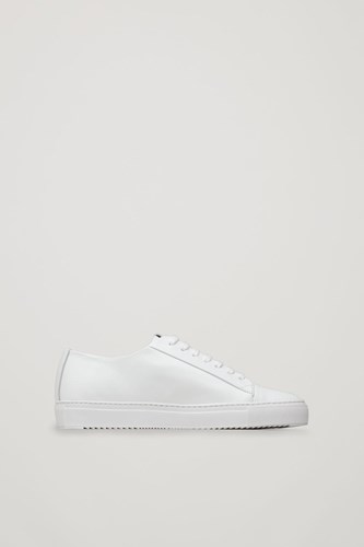 COS Thick Soled Leather Sneakers White mZNOYXJVlw
