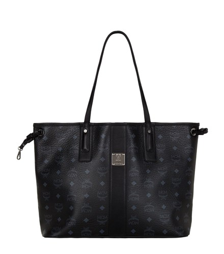 MCM Medium Reversible Project Visetos Shopper Black uOMIWgwl