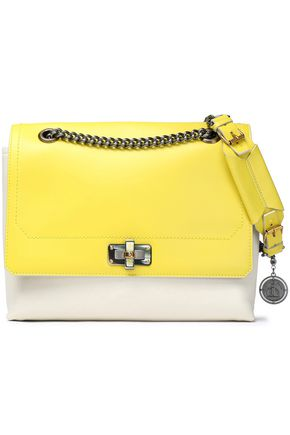 Lanvin Two Tone Leather Shoulder Bag Yellow 5INiw
