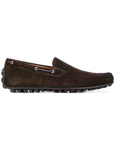 Fabi Boat Shoes Men Leather Calf Suede Rubber 41 Brown CSWg6GnsEn