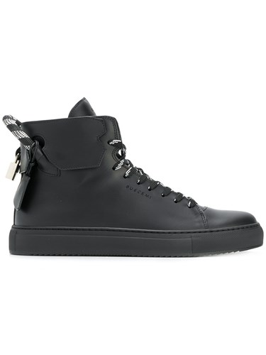 Buscemi Lace Up Hi Top Sneakers Black gzKLSYnv