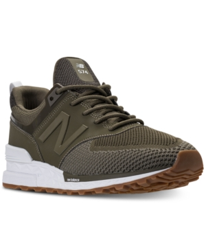 New Balance Men's 574 Sport Knit Casual Sneakers From Finish Line Triumph Green Covert Gree aa1VBgtx02
