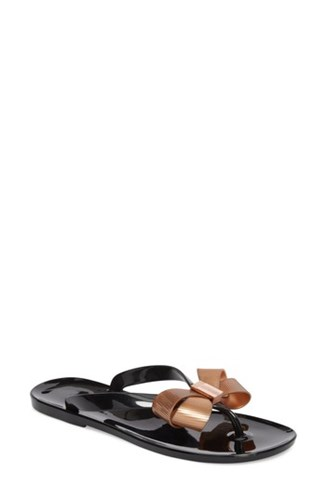 Ted Baker 'S London Suszie Flip Flop Black Rose Gold MLnqnmckr