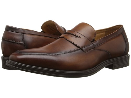 Florsheim Heights Penny Slip On Cognac Smooth Slip On Dress Shoes Neutral YgmyWrA