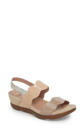 Wonders 'S Wedge Sandal Taupe Palo Light Grey Leather CwFFcNltr