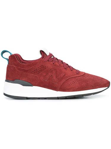 New Balance Club C 85 Sneakers Suede Rubber Acetate Red UF98OX