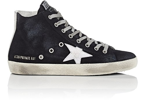 Golden Goose Women's Francy Suede Sneakers Navy yUAgHykhH