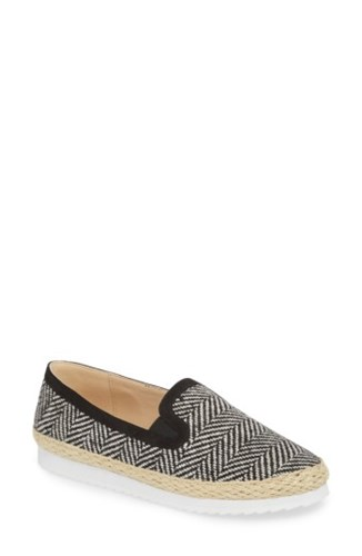 Houndstooth Flat Fabric Line Callisto Espadrille Tight Black qS6XTw