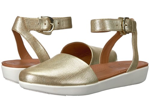 FitFlop Cova Closed Toe Sandals Metallic Gold ABlmLHxJH