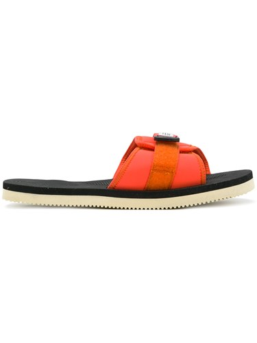 Suicoke Touch Strap Sandals Yellow And Orange GhYcuIS