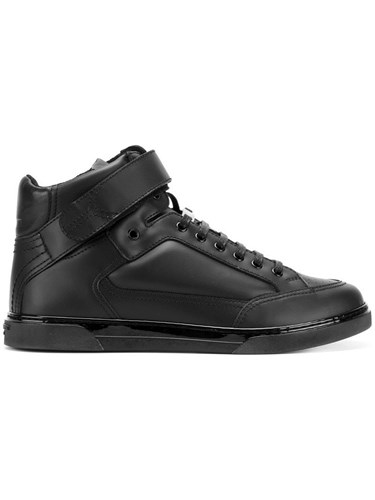 Saint Laurent Joe Scratch Sneakers Calf Leather Leather Polyester Rubber Black eNSeyJAWM3