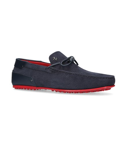 Tod's Leather Tie Driving Shoes Navy AcQYA