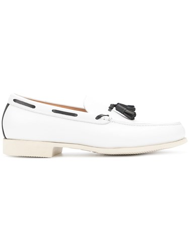 Contrast White Loveless Loveless Contrast Piped Loafers 7S1qzCw