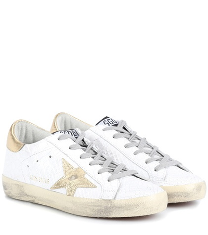 Golden Goose Superstar Leather Sneakers White i2XR3