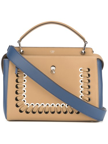 Fendi Dotcom Click Shoulder Bag Nude Neutrals TqjnC