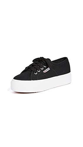 Superga 2790 Acotw Platform Sneakers Black White RLrwxP9