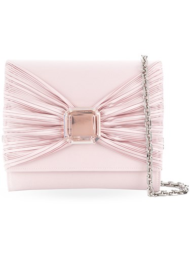 Casadei Bow Detail Clutch Bag Pink And Purple XsDJWw8d
