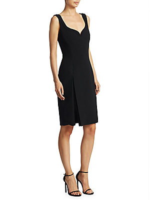 Brandon Maxwell Sweetheart Slit Dress Black oD0Q9