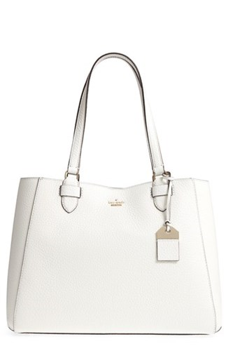 Kate Spade New York Carter Street Tyler Leather Tote White Bright White ysAuM
