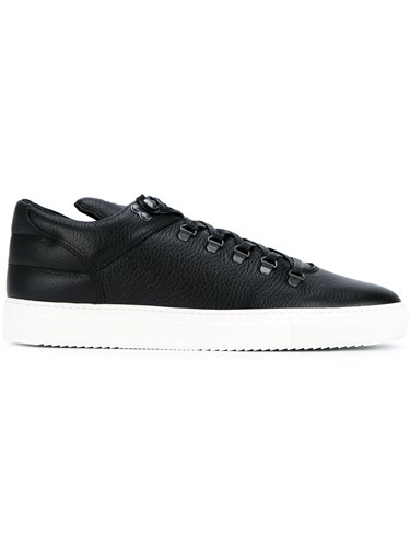 Filling Pieces Mountain Cut Leather Sneakers Black GEXAVwO3