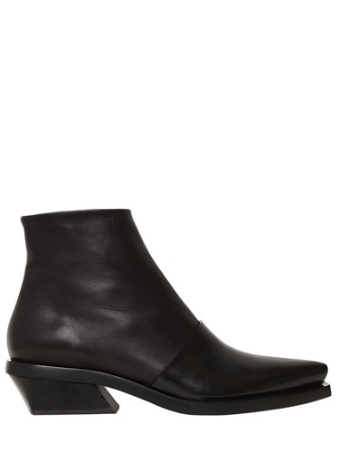 Proenza Schouler 30Mm Layered Brushed Leather Boots XR7BwUZH9