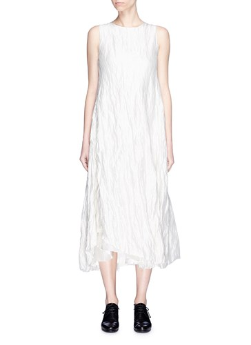 Song for the Mute Asymmetric Crinkled Dress White 8yIPm