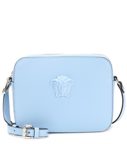 Versace Palazzo Leather Shoulder Bag Blue mOBkw