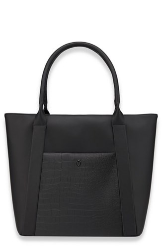 Vessel Signature 2.0 Faux Leather Medium Tote Black Pebbled Croc Black GZYhNK