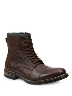 GBX Tosh Tumbled Leather Boots Brown Uj0C9QWiw