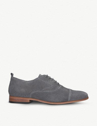 Kurt Geiger Thistle Suede Derby Shoes Grey eiLGTED
