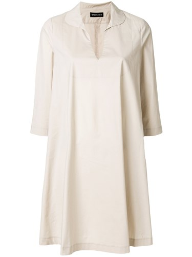 Twin-Set Flared Shirt Dress Nude And Neutrals PDh2caN9v