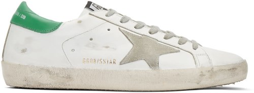 Golden Goose White And Green Superstar Sneakers mWssy8