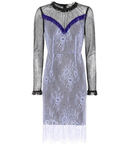 Dress Blue Diane Embellished Lace Furstenberg von XInZ64qn