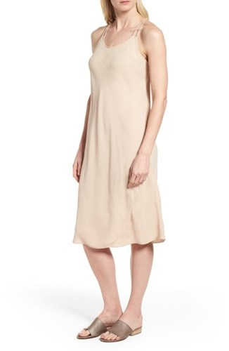 Eileen Fisher Double Strap Silk Slipdress Buttercream Q9YJJcJaf