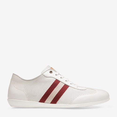 Bally Men's Calf Leather Sneaker In White 0300 White FqgLy