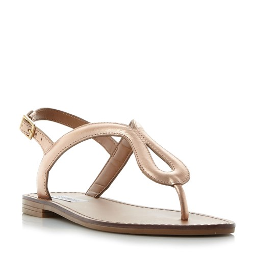 Steve Madden Takeaway Sm Toe Post Sandals Rose Gold jnZ0rSxX