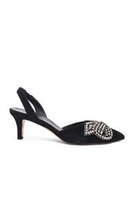 Isabel Marant Suede Pagda Pumps In Black LuvaLsxo6Q