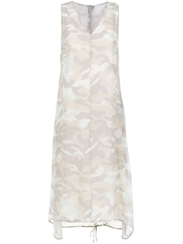 Osklen Dress Camouflage Print Neutrals Nude And zwzUnx1