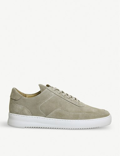 Filling Pieces Low Mondo Leather Trainers Khaki Suede Gbs0yVOdg