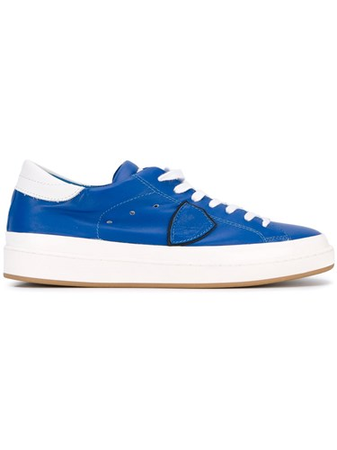Philippe Model Classic Sneakers Men Cotton Calf Leather Leather Rubber 41 Blue jhG7v