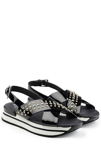 Hogan Studded Leather Sandals twOVD