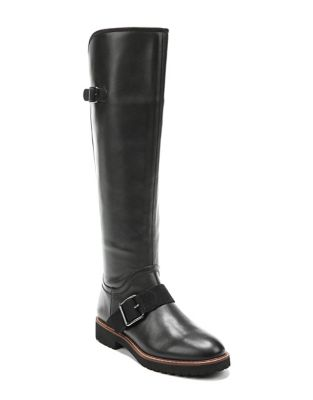 Franco Sarto Cutler Wide Calf Leather Knee High Boots Black TvbapU79br