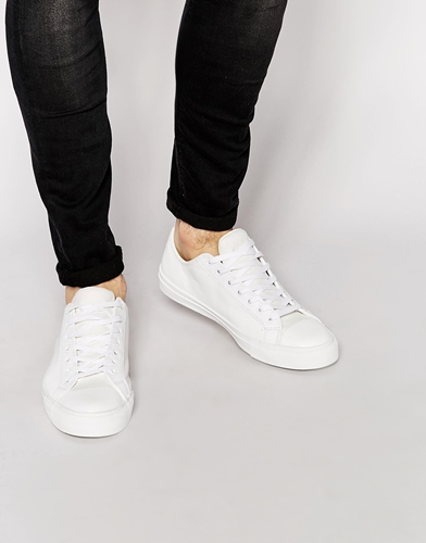 Aldo Amede Leather Trainers White DK9LRq72vM